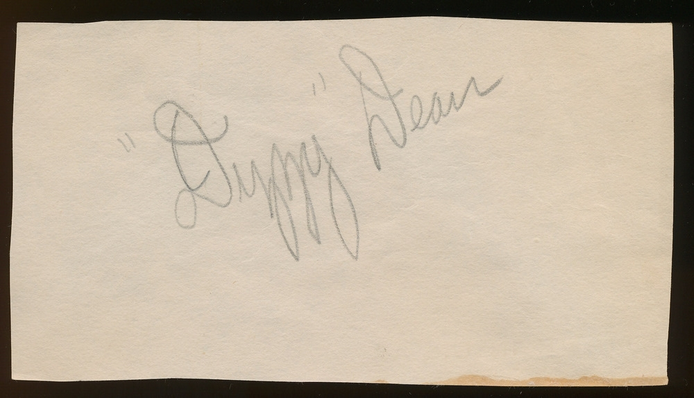 Dizzy Dean Signed Vintage Cut (PA LOA) at PristineAuction.com