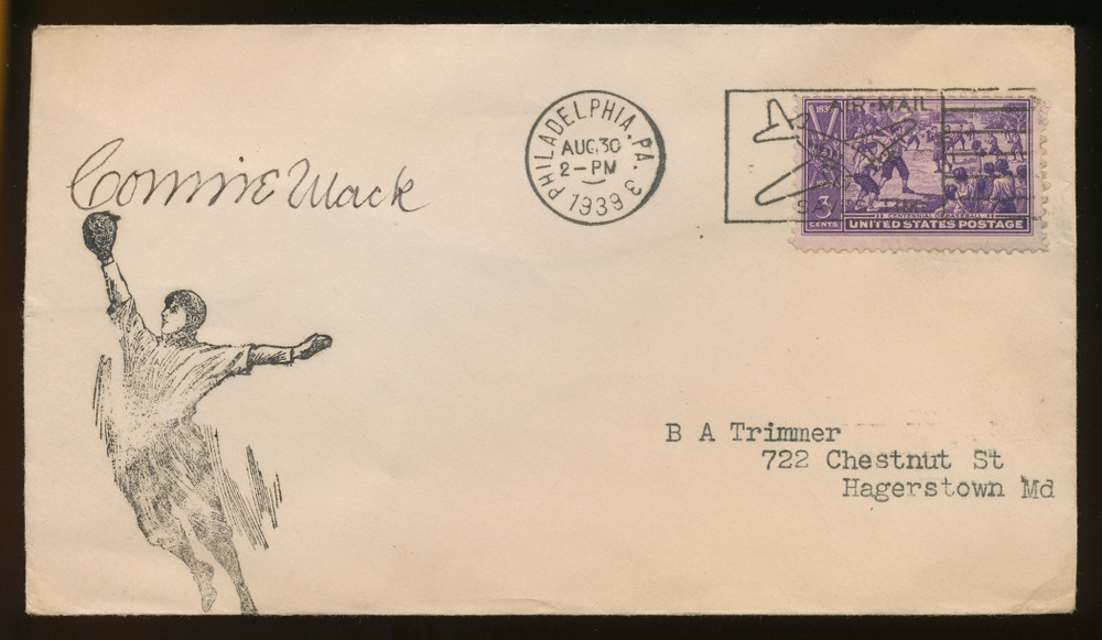 Connie Mack Signed Vintage 1939 Envelope (PA LOA) at PristineAuction.com