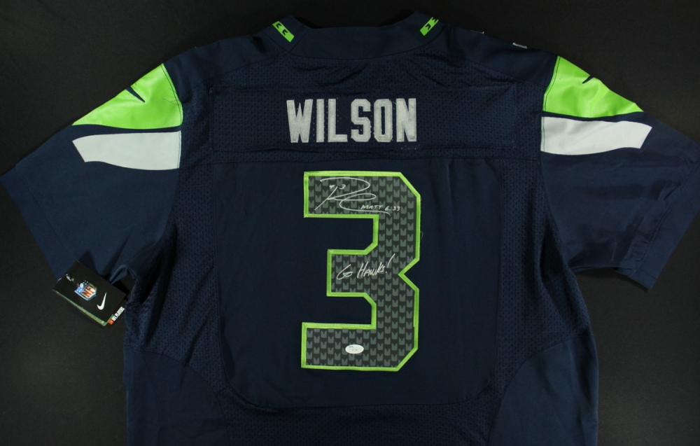 new style 3911c 16e25 cheap russell wilson signed jersey 3ef07 33674