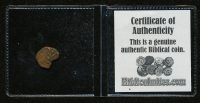 "Rare Certified Biblical 2000 Year Old ""Widow's Mite"" Coin From The Holy Land at PristineAuction.com"