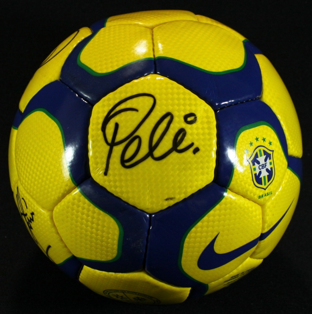 Brazil Nike Soccer Ball Signed by (4) with Pele b152cb0a5