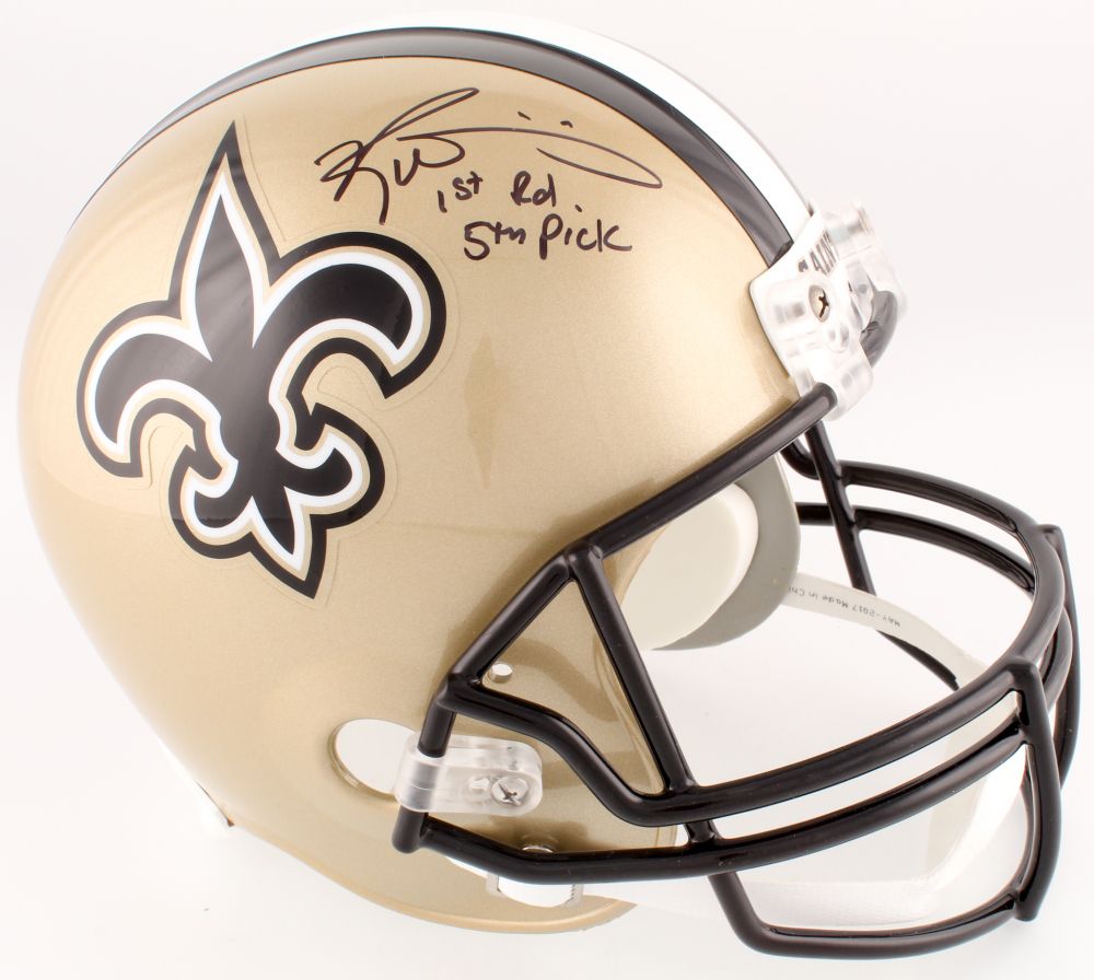 Ricky Williams Signed Saints Full-Size Helmet Inscribed