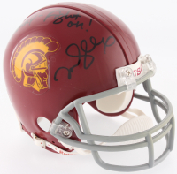 "Mark Sanchez Signed USC Trojans Mini Helmet Inscribed ""Fight on!"" (JSA COA) (See Description) at PristineAuction.com"