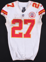 Kareem Hunt 2017 Game-Used Kansas City Chiefs Away Jersey & Pants (PM&G LOA) at PristineAuction.com