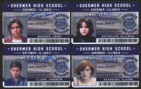 "Lot of (4) ""The Breakfast Club"" Shermer High School ID Cards Signed by (4) Judd Nelson, Molly Ringwald, Andy Clark & Allison Reynolds (Schwartz Sports)"