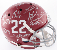 Alabama Crimson Tide Modern Greats Full-Size Helmet Signed by (21) with Mark Ingram Jr., Derrick Henry, Eddie Lacy, Calvin Ridley (Radtke COA, GTSM, Ingram & Henry Holograms)