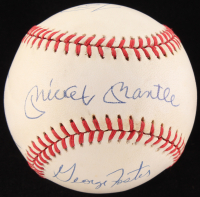 """50 Home Runs in a Season"" ONL Baseball Signed by (6) with Mickey Mantle, Willie Mays, Johnny Mize, Ralph Kiner (JSA LOA)"