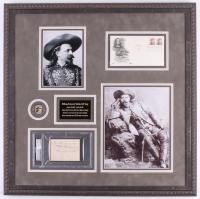 "William Frederick ""Buffalo Bill"" Cody Signed 23.5x23.5 Custom Framed Cut Display with Inscription (PSA Encapsulated)"
