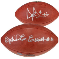Dak Prescott & Ezekiel Elliott Signed Wilson Football (Fanatics Hologram) at PristineAuction.com