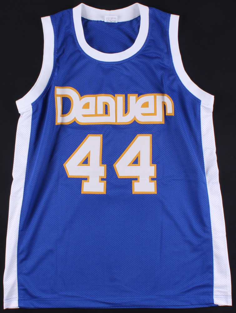 Dan Issel Signed Nuggets Throwback Jersey Inscribed