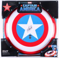 """Stan Lee Signed """"Captain America"""" Marvel Authentic Full-Size Metal Shield (Radtke Hologram & Stan Lee Hologram)"""