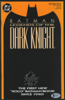 "Bob Kane Signed 1989 ""Batman: Legends of the Dark Knight"" Issue #1 DC Comic Book Inscribed ""-93"" (Beckett COA)"