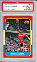 Michael Jordan Signed 1986-87 Fleer #57 RC - Autograph Graded PSA 9 (PSA Encapsulated)