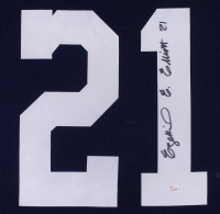 Ezekiel Elliott Signed Cowboys 31x35 Custom Framed Jersey (JSA COA) at PristineAuction.com