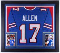 Josh Allen Signed Bills 31x35 Custom Framed Jersey (JSA COA) at PristineAuction.com