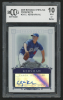 2006 Bowman Sterling Prospects #CK Clayton Kershaw Autograph (BCCG 10)