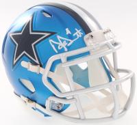 Dak Prescott Signed Cowboys Blaze Mini-Helmet (JSA COA & Prescott Hologram) at PristineAuction.com