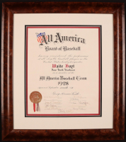 Babe Ruth Signed All-America Baseball Team Certificate (Full JSA LOA)