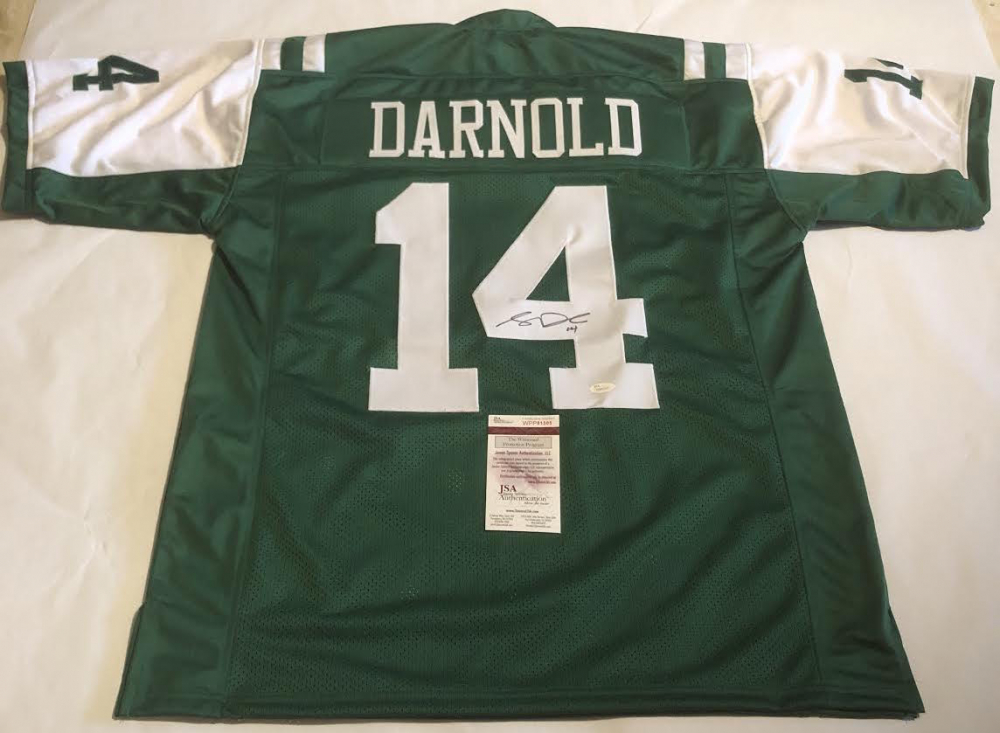 Sam Darnold Signed Jets Jersey (JSA COA) at PristineAuction.com 2418b9407