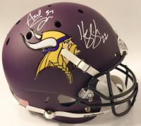 Harrison Smith & Andrew Sendejo Signed Vikings Custom Matte Purple Full-Size Helmet (TSE COA) at PristineAuction.com