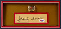 Hank Aaron Signed Braves 34x38 Custom Framed Cut Display with Championship Ring (PSA COA) at PristineAuction.com