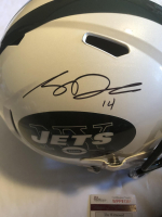 Sam Darnold Signed Jets Full-Size Speed Helmet (JSA COA) at PristineAuction.com