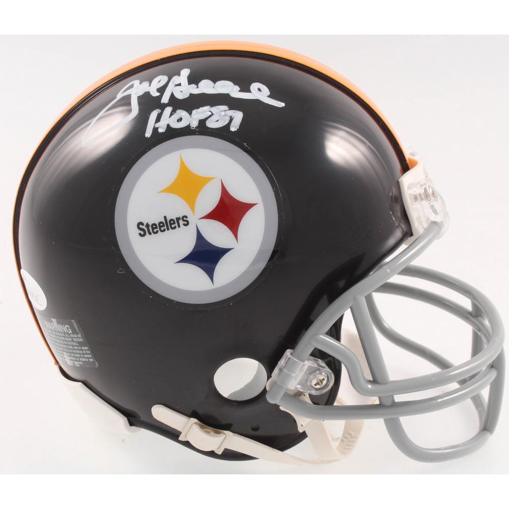 c8be2bf7391 Joe Greene Signed Pittsburgh Steelers Mini-Helmet Inscribed