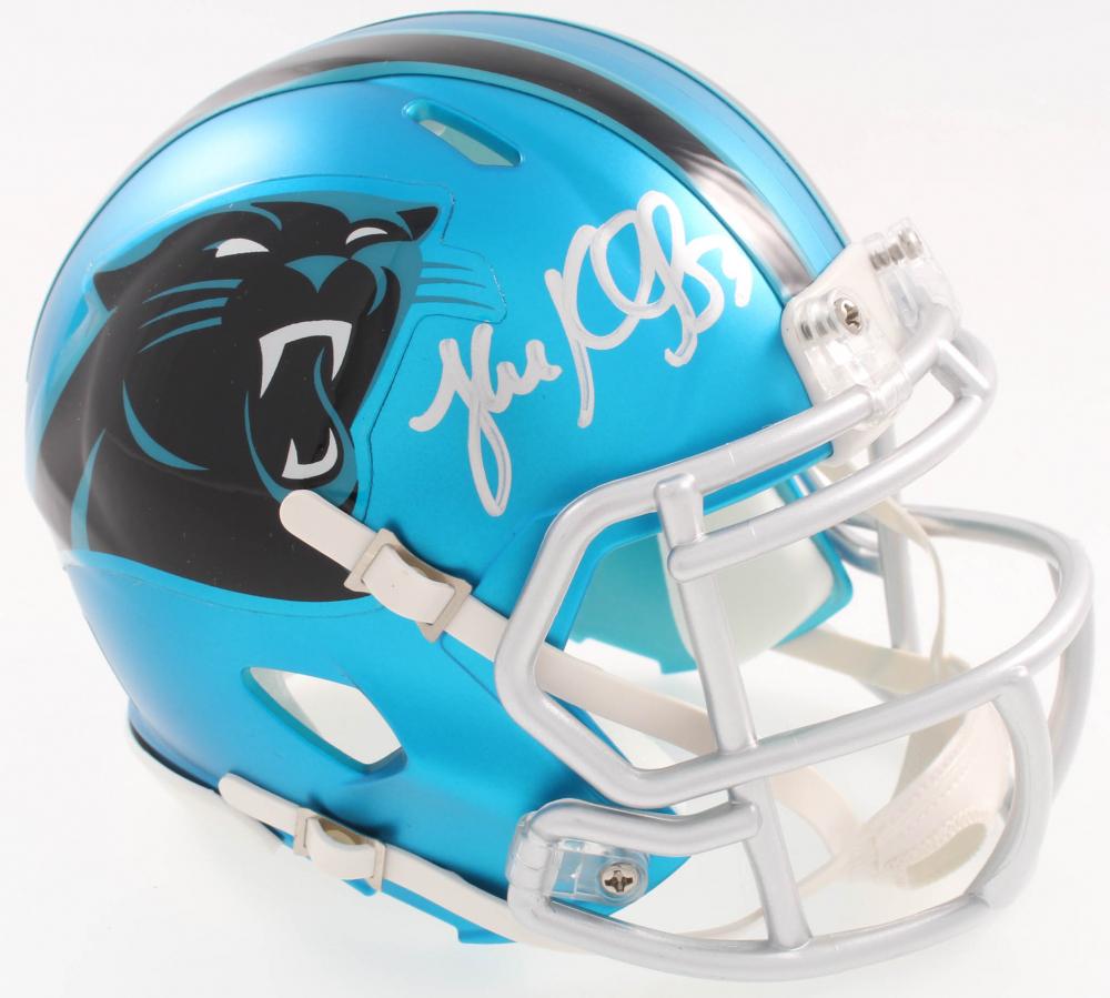 ae0d71f7e Luke Kuechly Signed Panthers Blaze Speed Alternate Mini-Helmet (JSA COA) at  PristineAuction