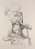 """Salvador Dali Signed 1973 LE """"Les Songes Drolatiques de Pantagruel"""" 21x29.5 Lithograph (PA LOA)"""