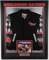 Richard Childress & Dale Earnhardt Sr. Signed 35x43 Custom Matte Framed Racing Jacket Display (JSA LOA)