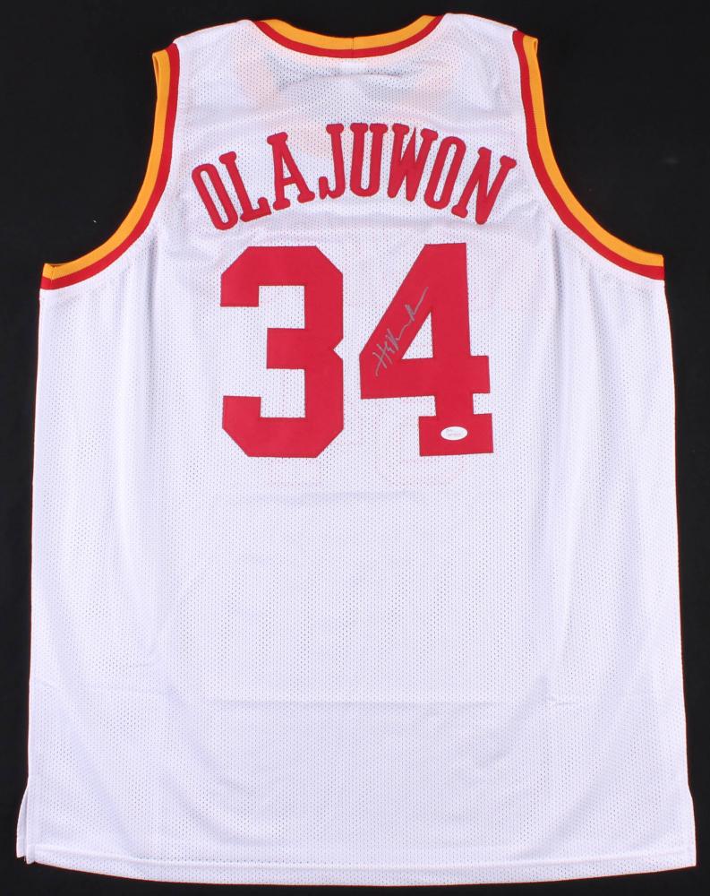 98e75ae51 Hakeem Olajuwon Signed Houston Rockets Jersey (JSA COA). JSA Witnessed