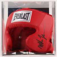 Mike Tyson Signed Everlast Head Gear with Display Case (PSA COA)