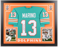 Dan Marino Signed Dolphins 35x43 Custom Framed Jersey (JSA COA) at PristineAuction.com