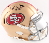 Jerry Rice Signed 49ers Full-Size Speed Helmet With Mirrored Visor (Beckett COA)