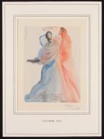 "Salvador Dali Signed 12.5x17 ""The Divine Comedy: Heaven Canto 18 Beatrice's Splendor"" Custom Matted Print Display (PA LOA)"