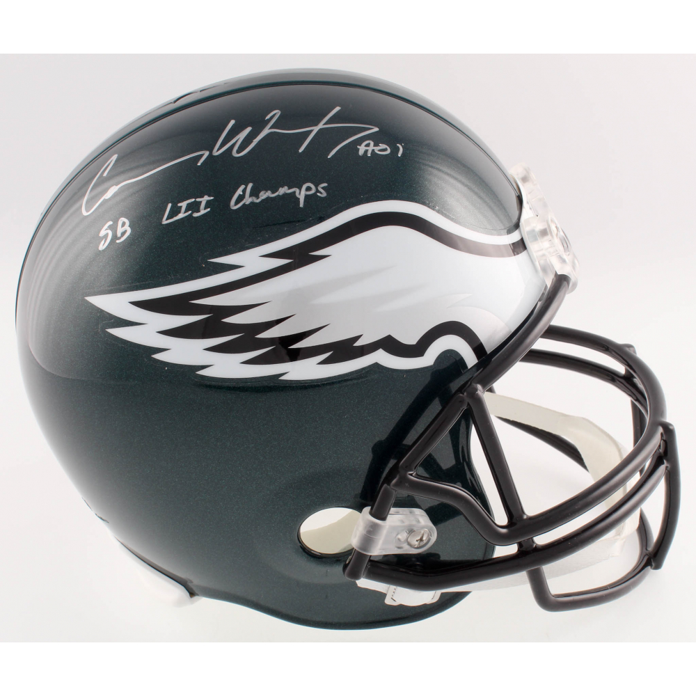 Carson Wentz Signed Eagles Full-Size Helmet Inscribed