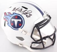Marcus Mariota Signed Titans Full-Size Speed Helmet With Mirrored Visor  (Beckett Hologram)