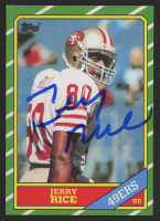 Jerry Rice Signed 1986 Topps #161 RC (JSA COA)