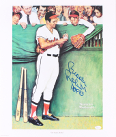 "Brooks Robinson Signed Orioles 18x21 Norman Rockwell Lithograph Inscribed ""HOF 83"" (JSA COA)"
