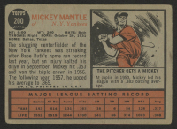 1962 Topps #200 Mickey Mantle at PristineAuction.com