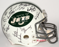 1969 Jets Full-Size Authentic On-Field Helmet Team-Signed by (26) with Joe Namath, Emerson Boozer, Don Maynard (Steiner Hologram)