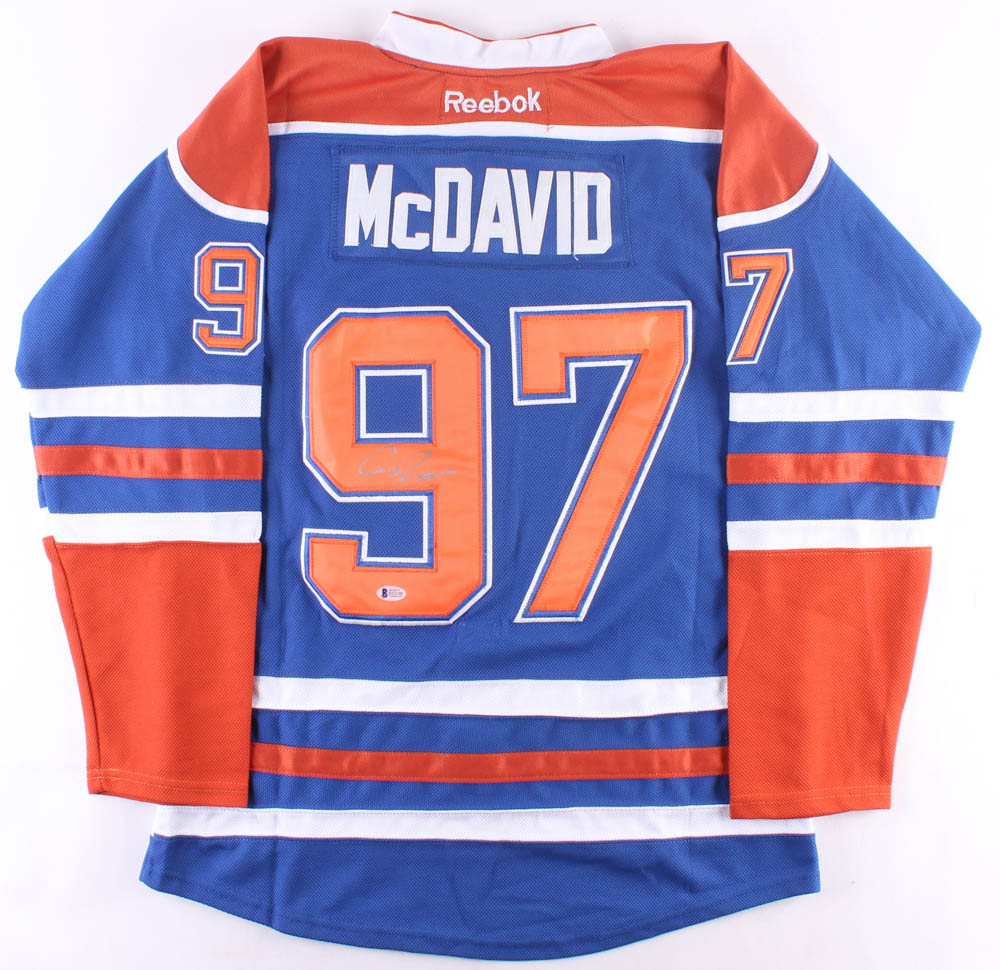 new concept 70316 4b969 mcdavid autographed jersey