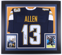 Keenan Allen Signed Chargers 31x35 Custom Framed Jersey (JSA COA)