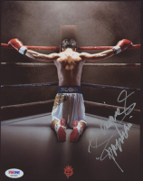 """Manny Pacquiao Signed 8x10 Photo Inscribed """"Pacman"""" (PSA COA)"""