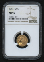 1913 $2.50 Indian Quarter Eagle Gold Coin (NGC AU 55)