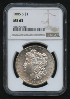 1885-S $1 Morgan Silver Dollar (NGC MS 63)