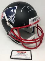 Tom Brady Signed Patriots Custom Black Matte Full-Size Helmet (TriStar Hologram)