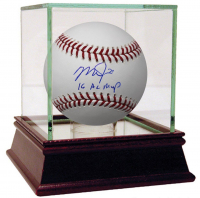 """Mike Trout Signed Baseball Inscribed """"16 AL MVP"""" (Steiner COA) at PristineAuction.com"""