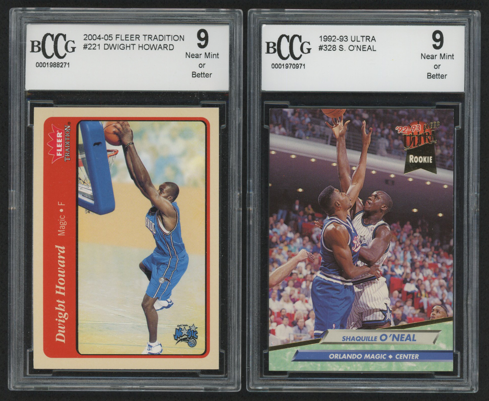 6d78df5f529 Lot of (2) Graded Basketball Cards with 2004-05 Fleer Tradition  221 Dwight  Howard RC (BCCG 9) 1992-93 Ultra  328 Shaquille O Neal RC (BCCG 9)
