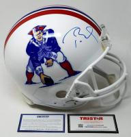 Tom Brady Signed Patriots Throwback Full-Size Authentic On-Field Helmet (Steiner COA & Tristar Hologram)